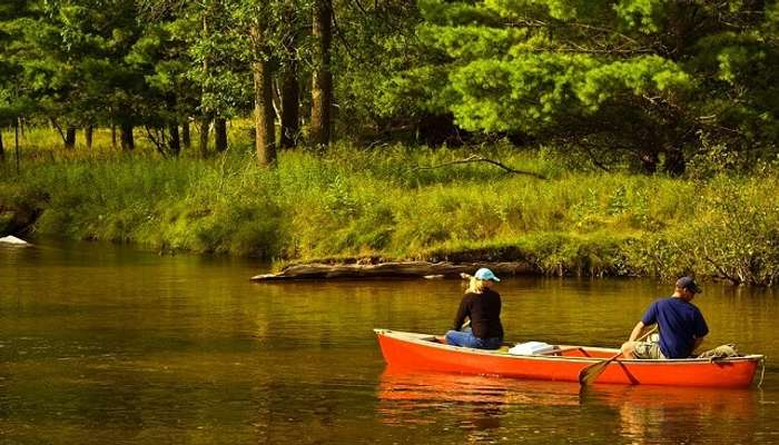 canoe ride in national park