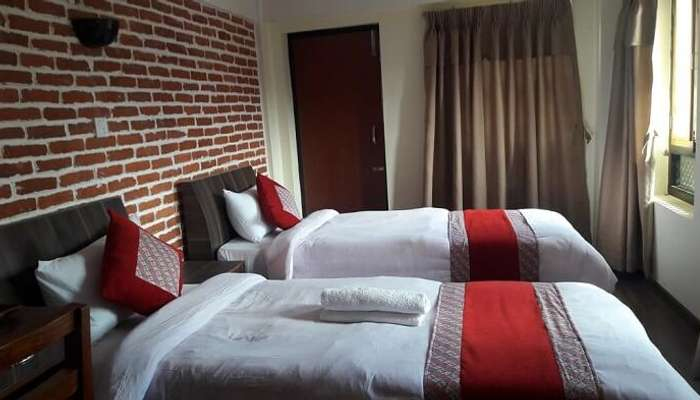 twin bedroom in nepal homestay
