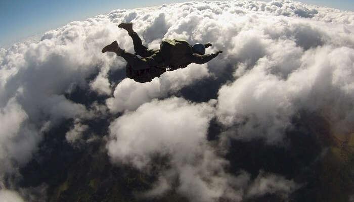 Sky diving in Nepal