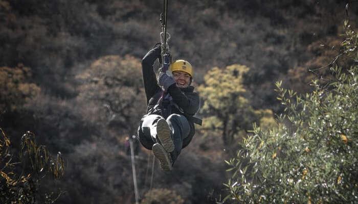 Ziplining in Nepal