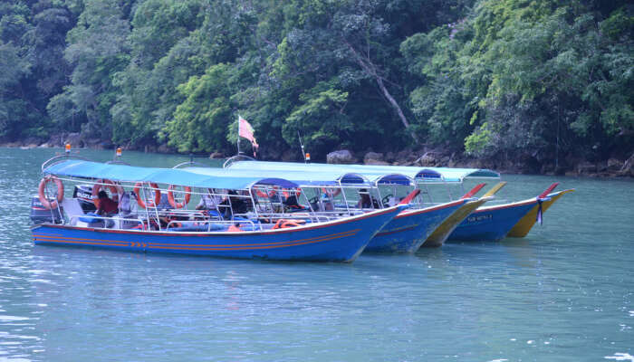 boat on the island