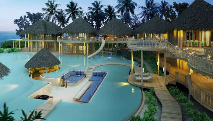 offers private beach and resorts