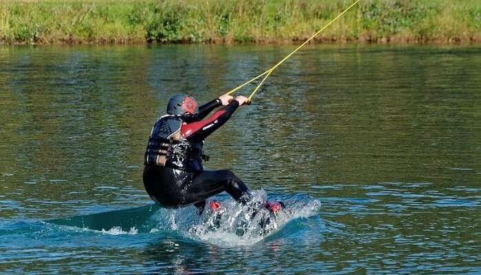 wake boarding in Water
