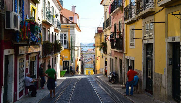 shopping street in Lisbon