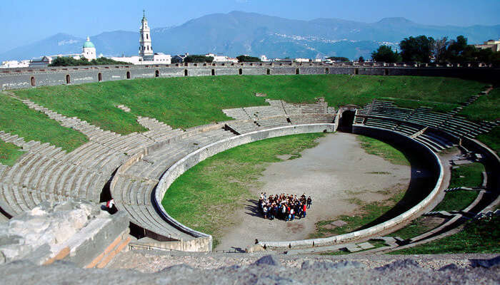 pectacular amphitheater of Pompeii
