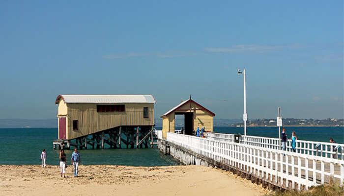 small seaside resort town