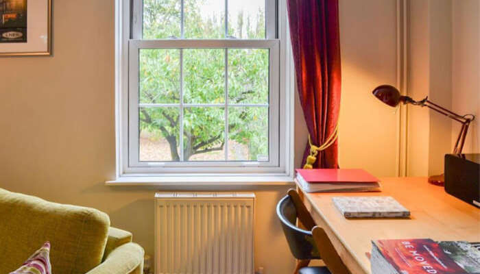 neatly done up rooms, living area, decent linens, free WIFI