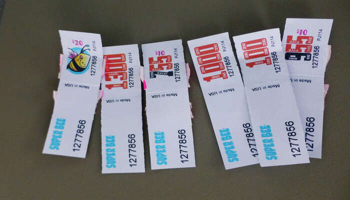 Casino tickets