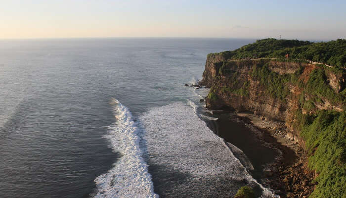 A top view of the Uluwatu beach