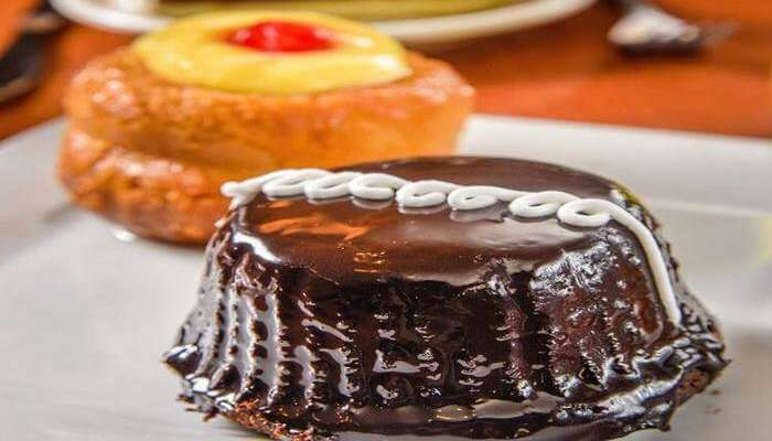 Pastry closeup view