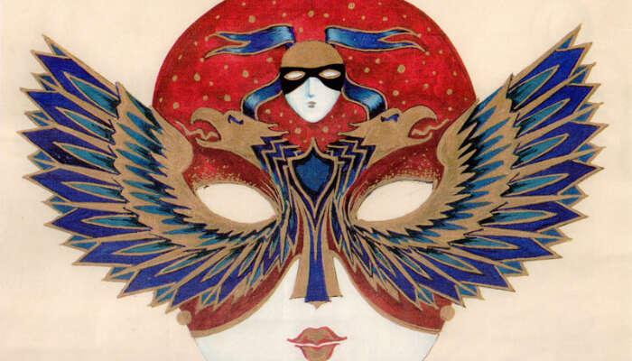Красивая маска