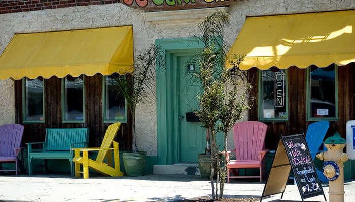 Café front view