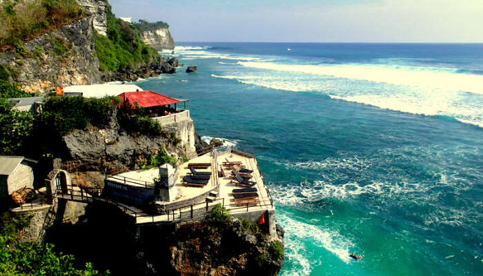 A cliff in Uluwatu