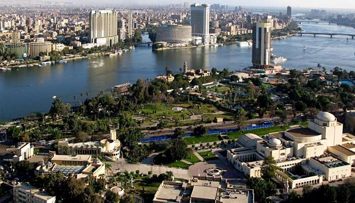 View Cairo from the sky