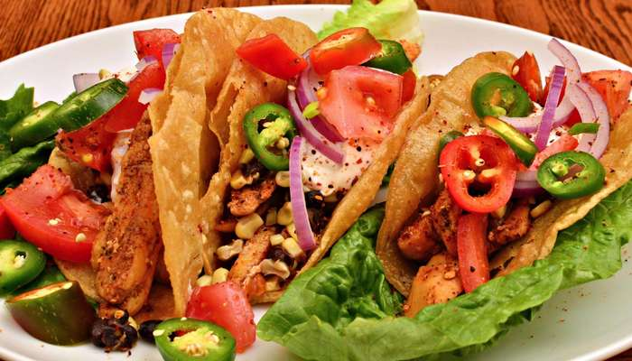 nachos served with vegies