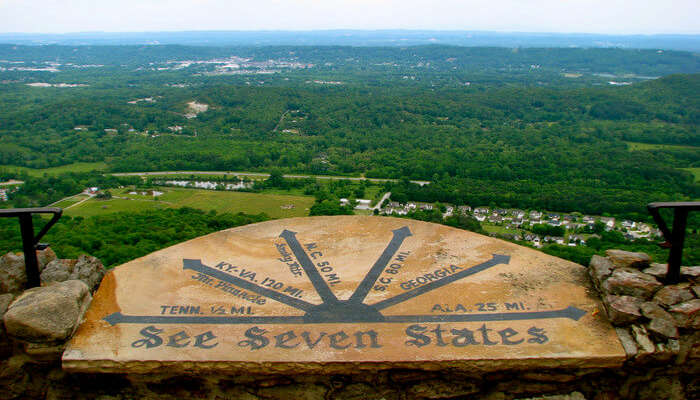 Seven States from Rock City