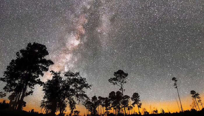 Beautiful stars at night sky