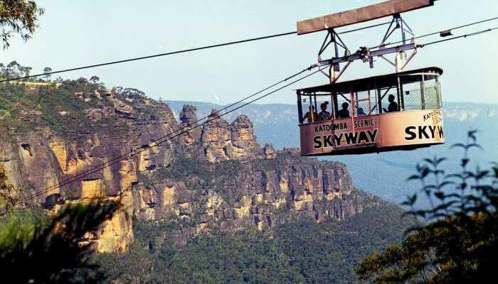 Take a cable car ride at Scenic World