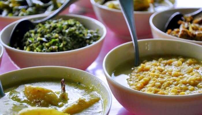 Food Dinner Meal Curry Sri Lanka Bowls