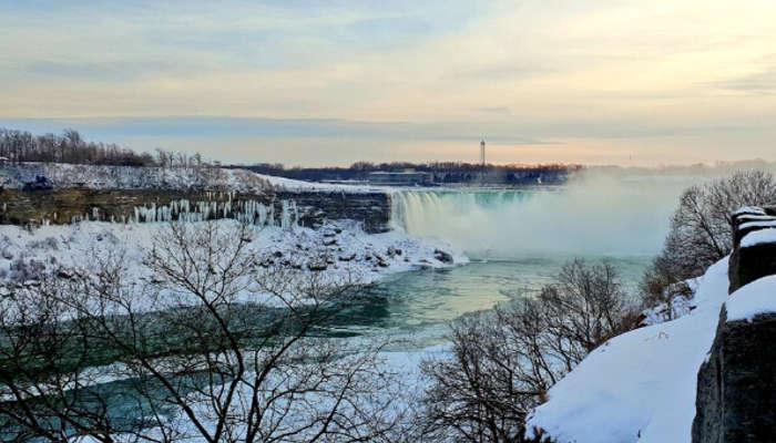 Instagram pic of frozen Niagara