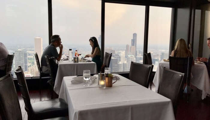 Experience amazing views of Chicago in the Signature Room