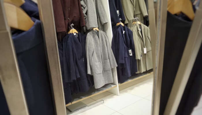 wardrobe with tailored clothing