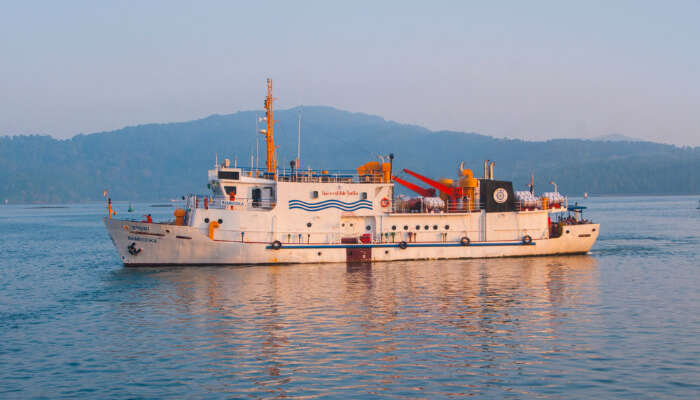 A ferry in Andaman