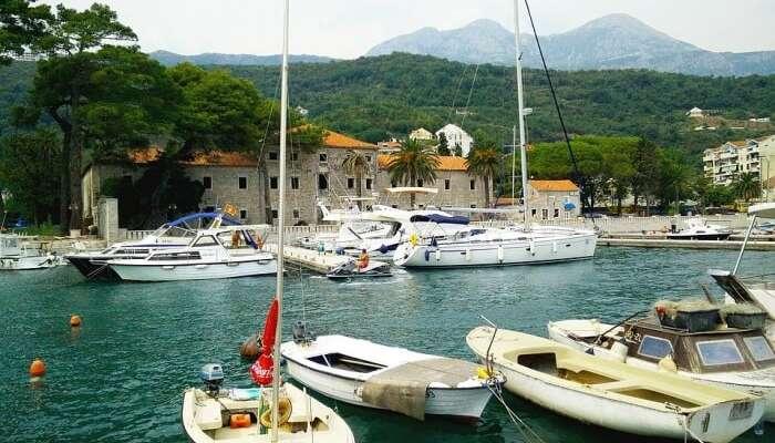 Boats Summer Montenegro Herceg Novi Marina Meljine