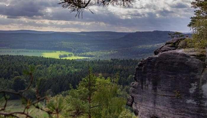 Landscape Bastei Rock Germany Nature Saxony
