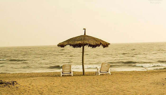 two chairs at the beach holidays Places gujarat india