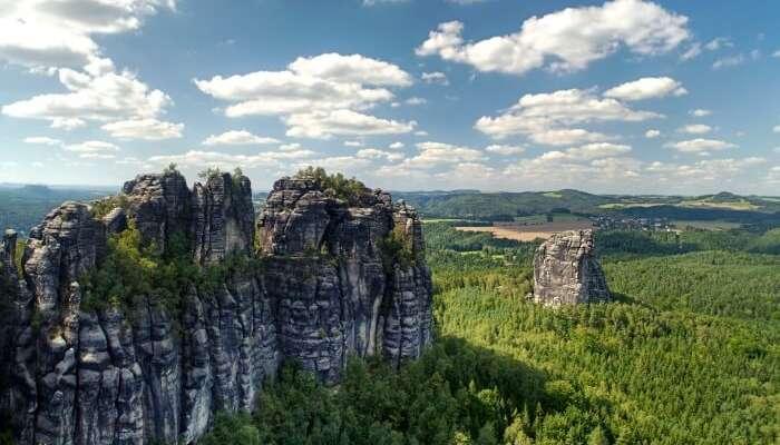 Schrammsteine in switzerland