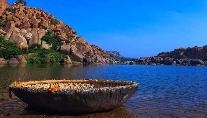 Landscape Culture Boat Water Bamboo Boat Blue Sky
