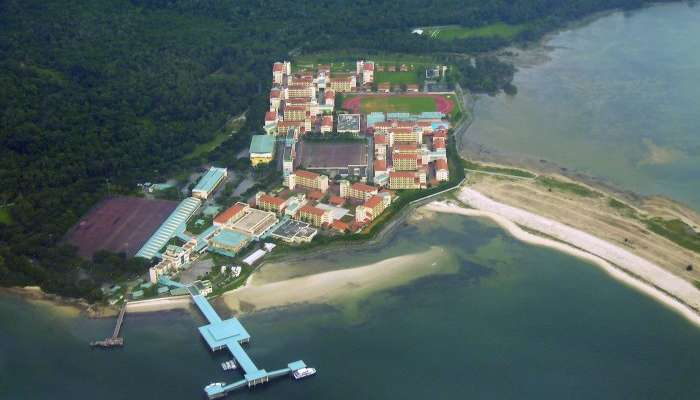aerial view of tekong island