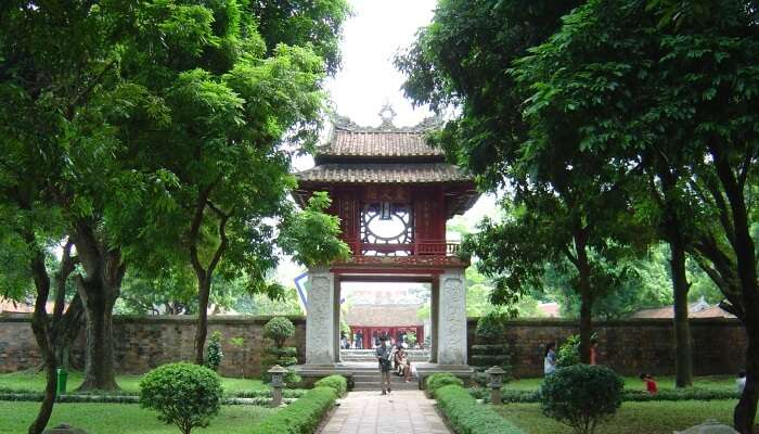 entrance to a temple in Vietnam