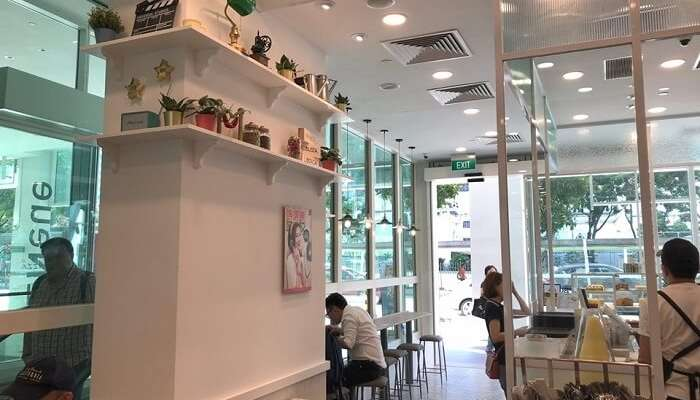 interiors of a cafe
