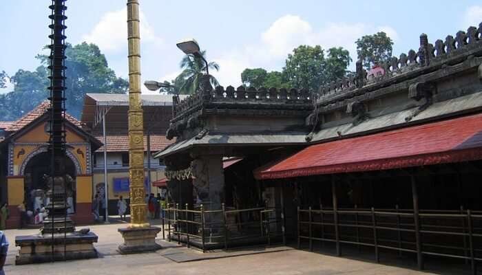 temple with two pious pillars