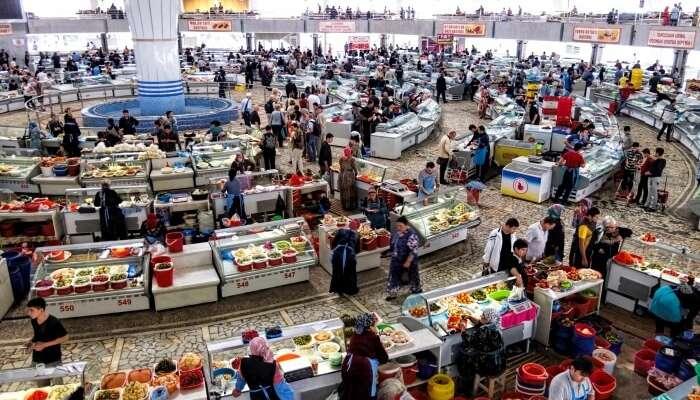 Chorsu Bazaar View