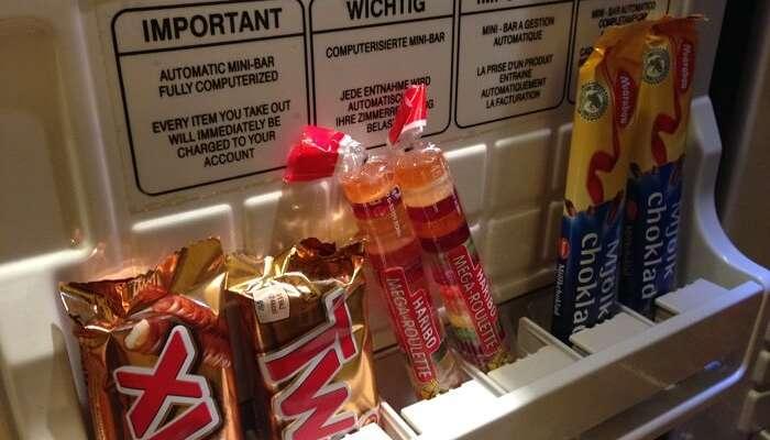 snacks in mini bar