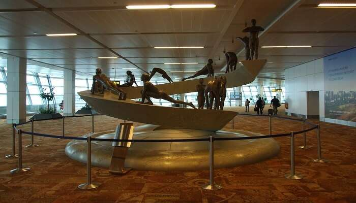 Sculpture at Delhi airport