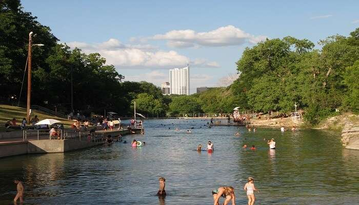 outdoor pool in Austin