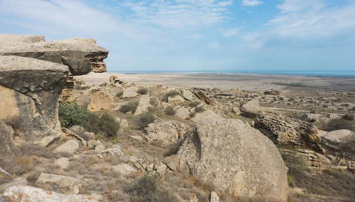 craggy rocks of Absheron National Park