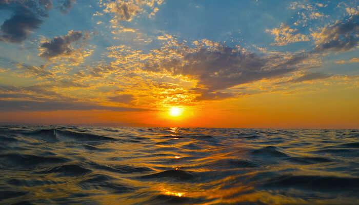 sunset at Bilgah Beach
