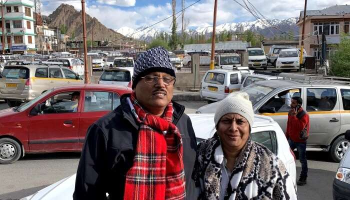 visited to ladakh with parents