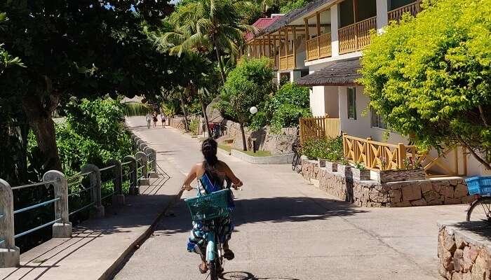 Cycling at Island