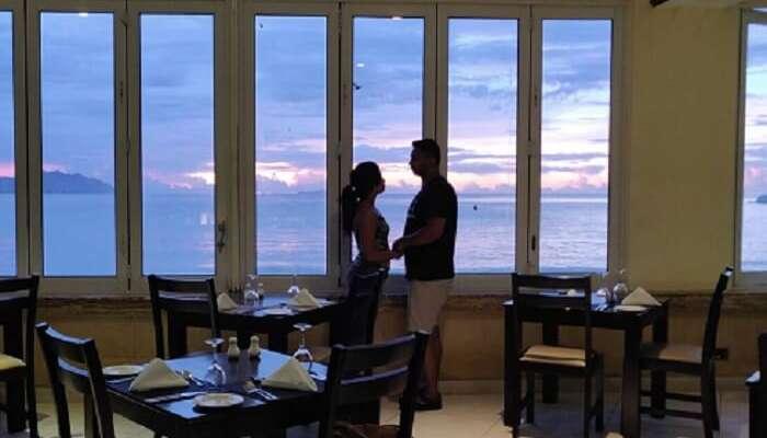 Couple spending romantic time