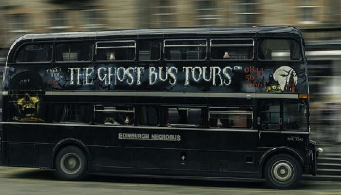 Lawnmarket Edinburgh Bus Ghost Tours Double Decker