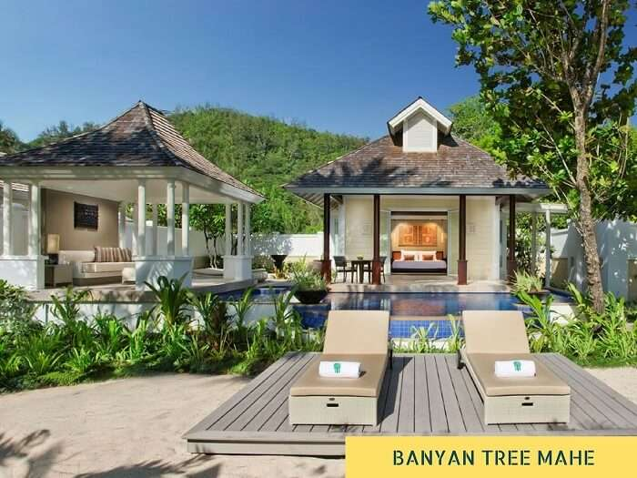 A stay option at Banyan Tree resort on Mahe island in Seychelles