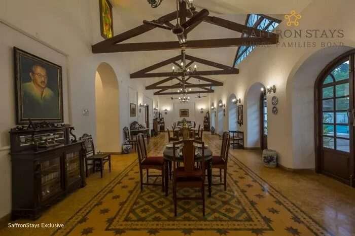 Dining Hall at Nossa Bela Casa in Goa
