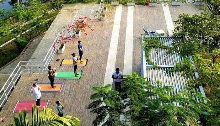 Guests indulging in yoga at Mekosha Retreat