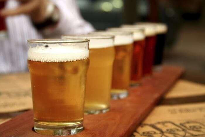 range of beer served at Aaira